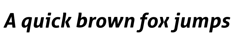 Preview of Aller Bold Italic