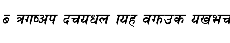 Preview of Ganga Italic